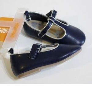 Gymboree Navy Blue Silver Dress Shoes Size 4